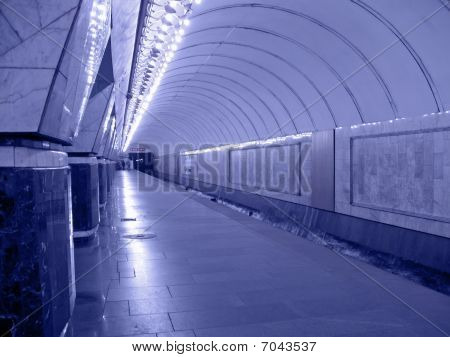 Nobody, Perspective Fluorescent Subway Illustration
