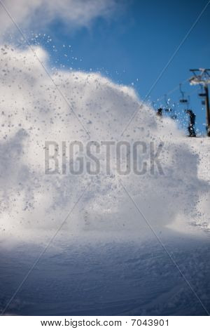 Snow Splash Background