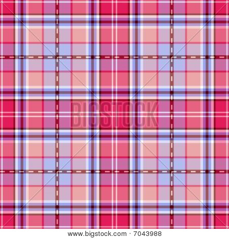 Repeating pink and blue cross pattern