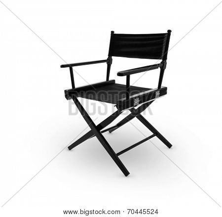 Director chair -including clipping path