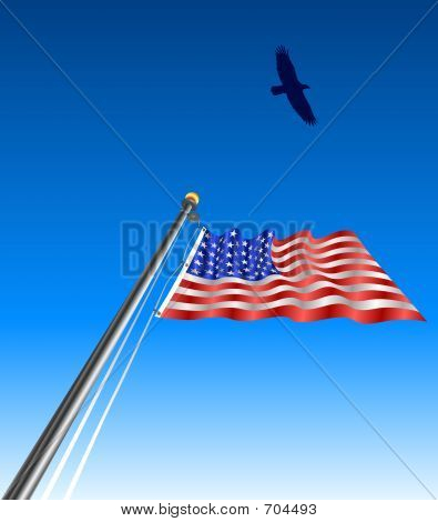 flag day clip art. day clip art waving flag
