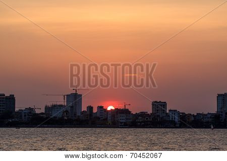 Sunset on Westlake