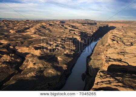 Craggy Landscape And River