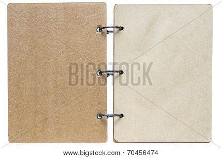 Isolated Notebook With Pages Brown Color