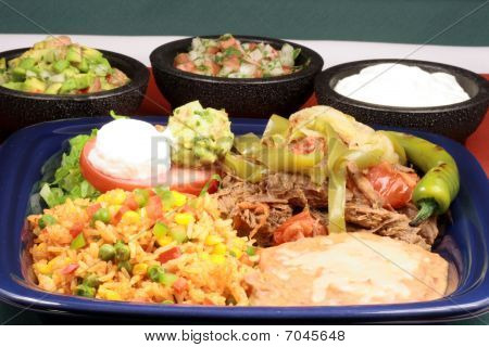 Delicious Mexican Beef Plate