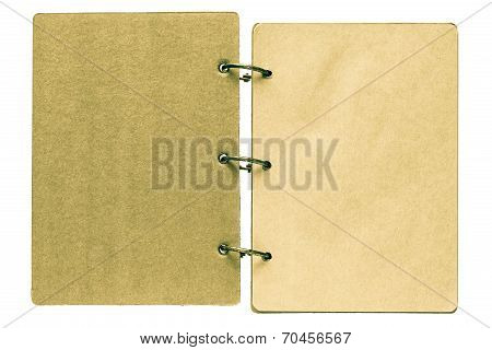 Isolated On A White Background Open Notebook