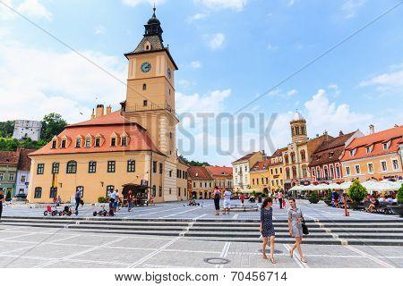 Council Square on July 15, 2014 in Brasov Romania
