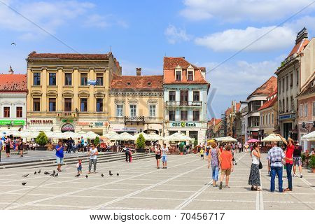 Council Square on July 15, 2014 in Brasov Romania