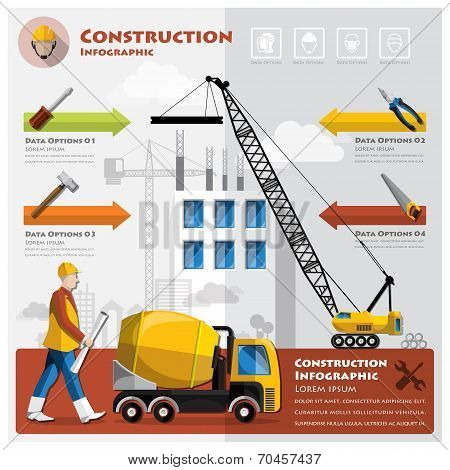 Construction And Building Business Infographic