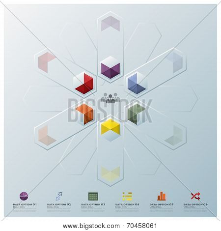 Modern Fusion Hexagon Geometric Shape Business Infographic