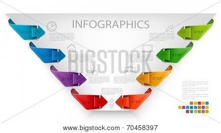 Info graphics banners. Retro design template. Vector illustration