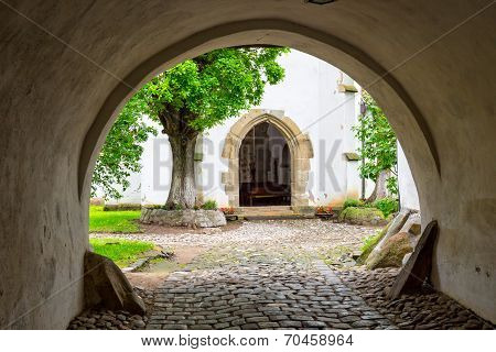 Fortified Church In Prejmer, Romania.