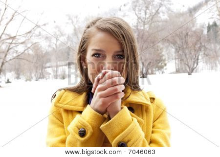 Cold and Freezing Female
