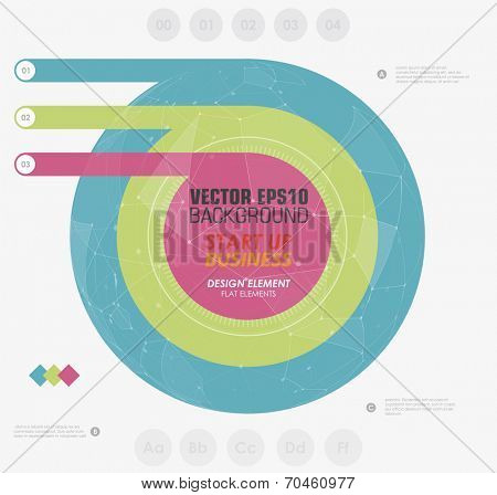 Minimalist design infographic in flat style. Design element for business presentation