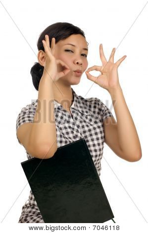 Woman Giving Hand Gesture
