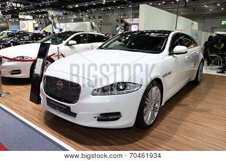 Bangkok - August 19: Jaguar Xj Car On Display At Big Motor Sale On August, 2014 In Bangkok, Thailand