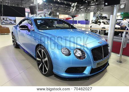 Bangkok - August 19: Bentley Continental Gt V8 S Car On Display At Big Motor Sale On August, 2014 In