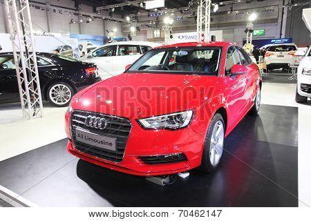 Bangkok - August 19: Audi A3 Limousine Car On Display At Big Motor Sale On August, 2014 In Bangkok,