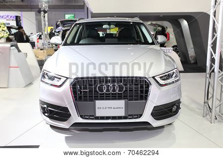 Bangkok - August 19: Audi Q3 2.0 Tdi Quattro Car On Display At Big Motor Sale On August, 2014 In Ban