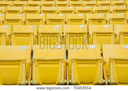 Empty Chair At Grandstand