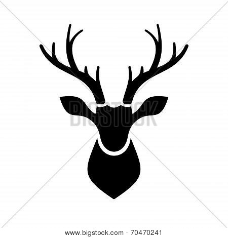 Deer Head Icon Vector Logo