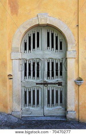 Old Wooden Chapel Door