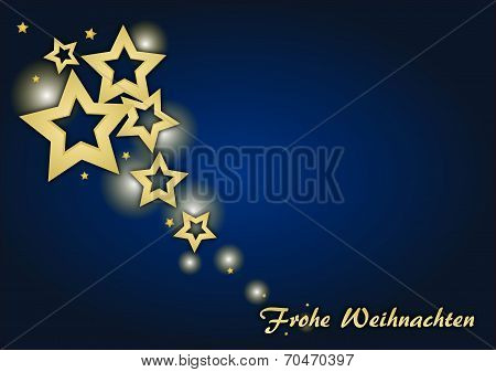 Christmas Card With Stars