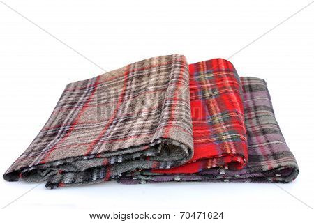 Multicolored Tartan Scarves