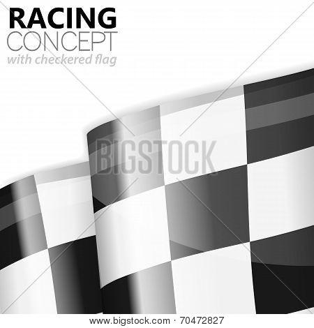 Racing Checkered Flag Finish