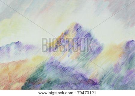 Cezanne Like Mountain