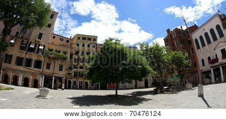 Square Of Jewish Ghetto In Venice In Italy