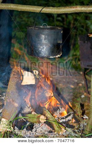Food Preparation On Fire