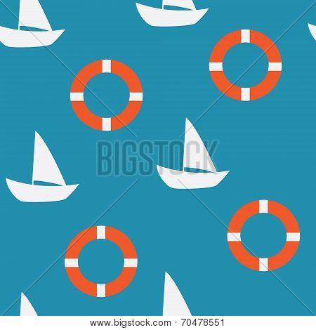 Yacht Seamless Pattern