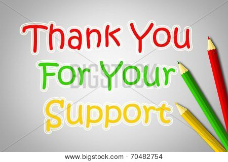 Thank You For Your Support Concep