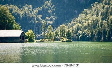 An image of the Koenigssee Berchtesgaden Bavaria Germany