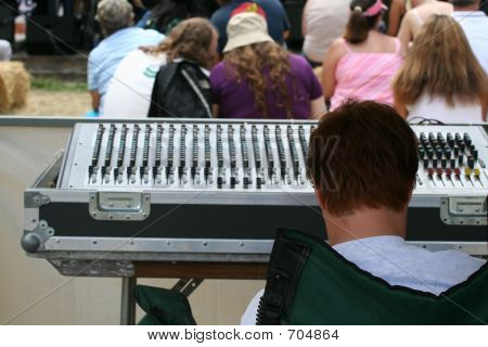 Man Controlling The Music