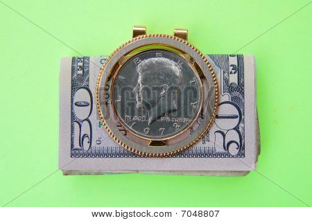John F. Kennedy Coin Money Clip