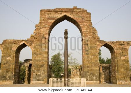 Ashoka or Mehrauli Stambh (Iron Pillar at Qutab Minar Complex)