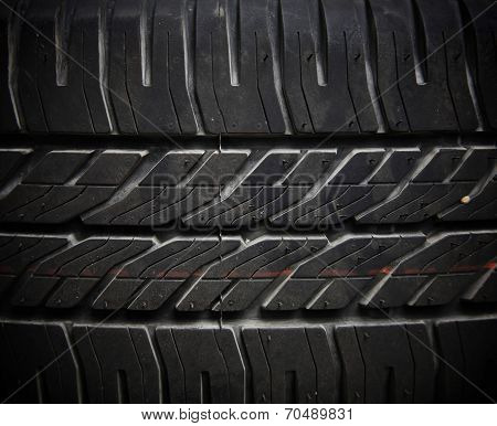 Textured Pattern Of Tire Background