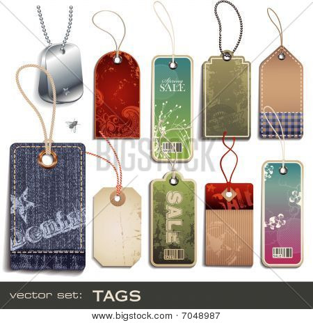 vector set: tags