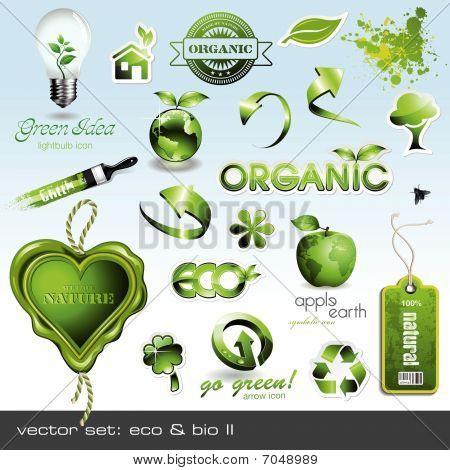 vector icons: eco & bio II