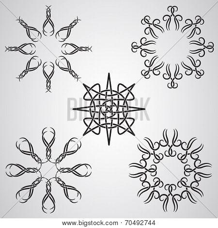 Vector Celtic Tattoo Sun Elements