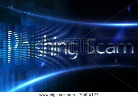 Digitally generated Phishing scam on digital screen