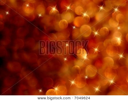 Bokeh Starburst Fiery Abstract