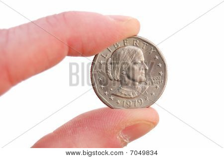Close-up Of Susan B. Anthony Dollar