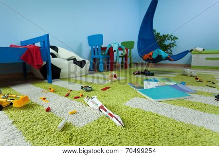 Mess In Boy's Room