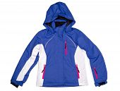 image of bomber jacket  - Winter sports jacket with a hood - JPG
