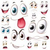 stock photo of  eyes  - Illustration of different set of eyes - JPG