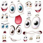 image of  eyes  - Illustration of different set of eyes - JPG