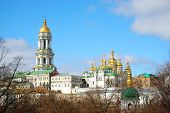 picture of kiev  - bell tower and more churches in Kiev Pechersk Lavra in Kiev - JPG